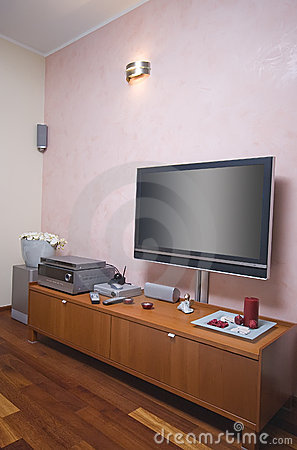 Free Modern Room TV Royalty Free Stock Image - 3596056