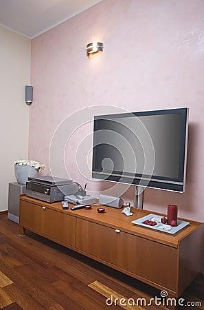 Modern room TV