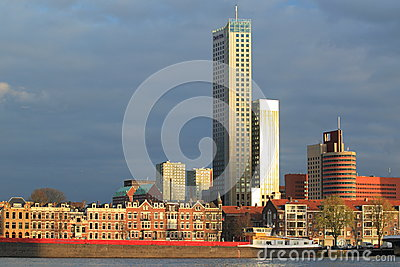 Modern Rotterdam Editorial Photo
