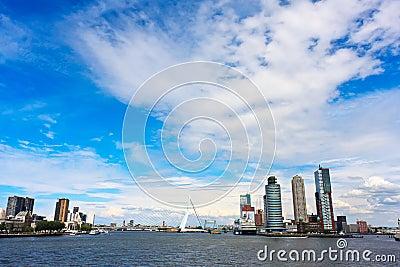 Modern Rotterdam Skyline
