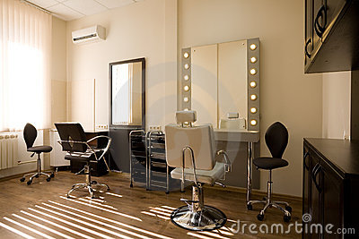 Modern Salon Make Up Artist And Hairdresser Royalty Free