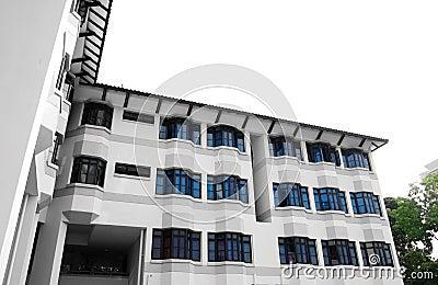 Modern school hostel architecture
