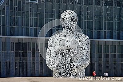 Modern sculpture in Zaragoza Editorial Stock Photo