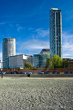 Free Modern Scycrapers In Liverpool Stock Images - 14688744