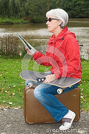 Modern Senior On Holiday