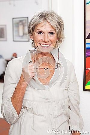 Free Modern Senior Lady With Reading Glasses Royalty Free Stock Photo - 31225545