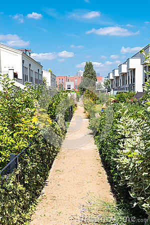 Free Modern Serial Houses With Gardens Stock Images - 86533764