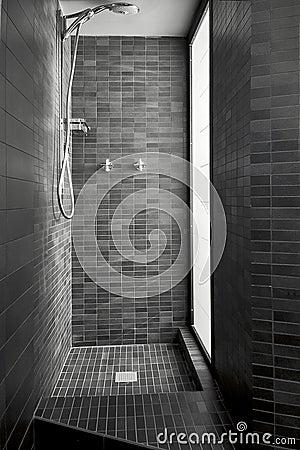 Modern Shower Cubicle Of Masonry Stock Photo Image 22623090