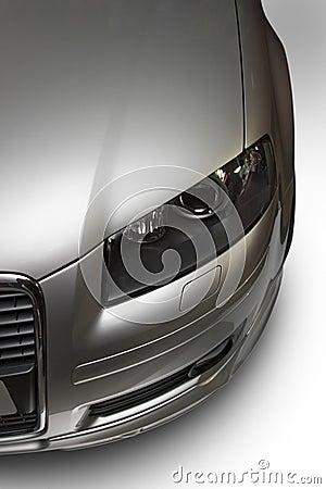 Modern silver car