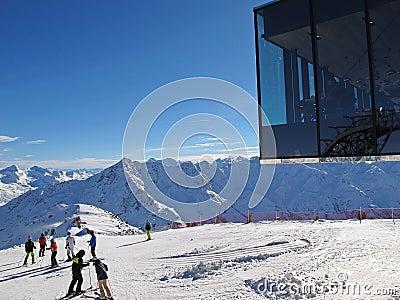 Modern ski resort editorial photography image 52008372 for Moderne skihotels