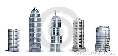 Modern skyscrapers