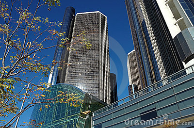 Modern Skyscrapers Exterior Royalty Free Stock Photography - Image: 9033197