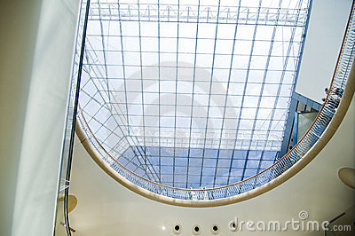 Modern sleek shopping mall architecture