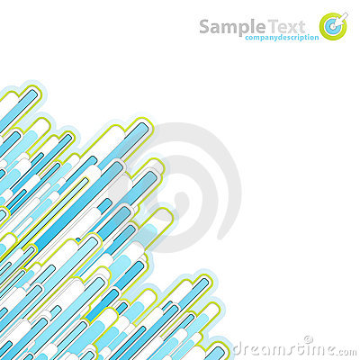 Modern slick blue and green business background