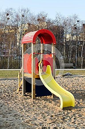 Modern slide in park