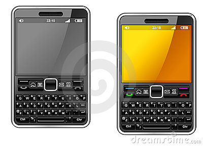 Modern smartphone with abstract