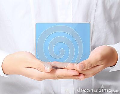 Modern social buttons in hand