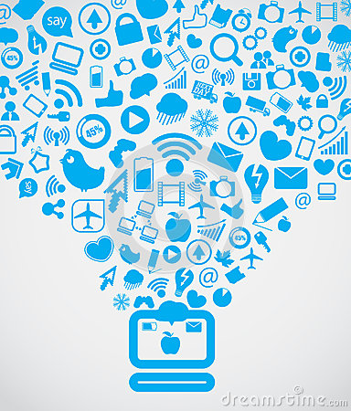 Modern social media content Editorial Image