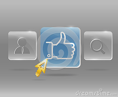 Modern social media menu Editorial Photography