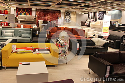 Modern sofas couch design interior Editorial Photography