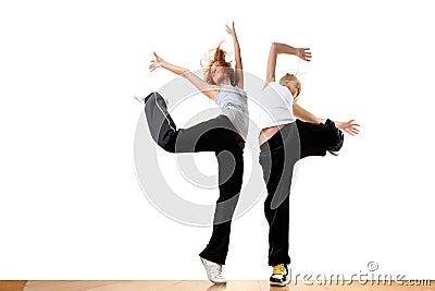 Modern sport ballet dancers