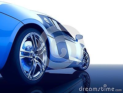Modern sport car