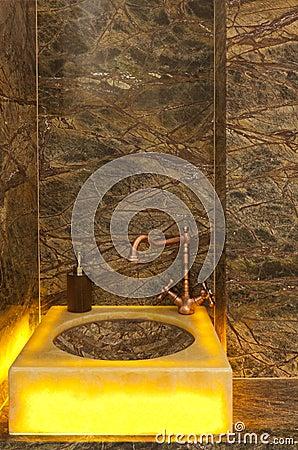 Square Bathroom Sinks on Modern Square Bathroom Sink Royalty Free Stock Photos   Image