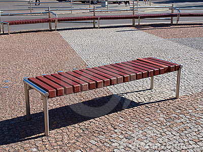 Modern square bench