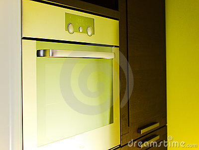 Modern stainless oven