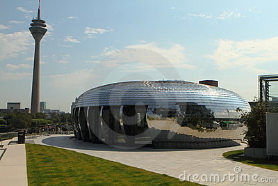 Modern Stainless steel clad Building. Editorial Photo