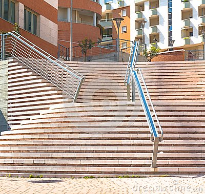 Free Modern Stairs Leading To Office Building Royalty Free Stock Images - 38919269