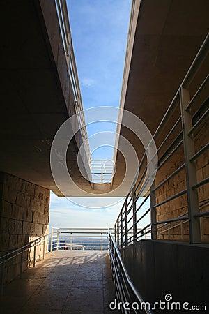 Modern stairwell/wheelchair ramp