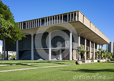 State Capitol Building, Honolulu, Oahu, Hawaii Editorial Photo