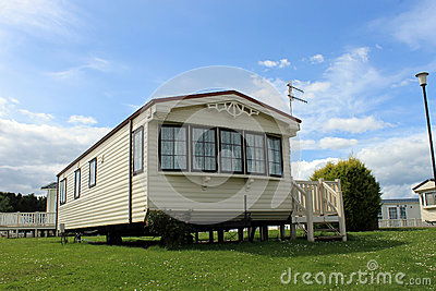 Modern static caravan