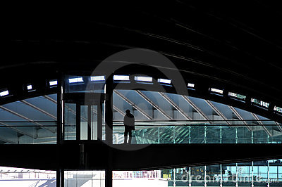 Modern station Redactionele Foto