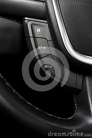 Steering Wheel commands and controls in car interior