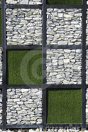 Free Modern Stone Wall.a Different Format. Stock Photography - 17539322