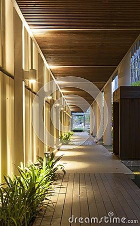 Modern structure corridor