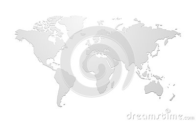 Simple blank vector world map Vector Illustration