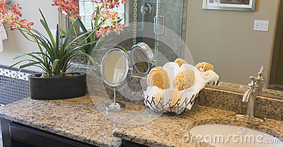 Modern  stylish bathroom counter top