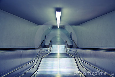 Modern subway stairs