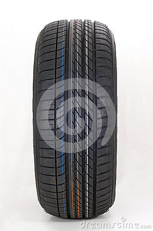 Modern summer sports car tire Stock Photo
