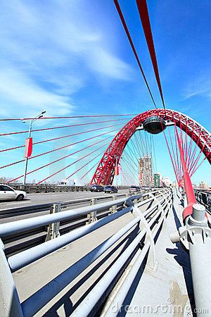 Free Modern Suspension Bridge Royalty Free Stock Photo - 9201135