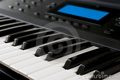 Modern Synthesizer - Piano Keyboard