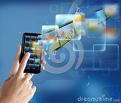 Modern technology smartphone
