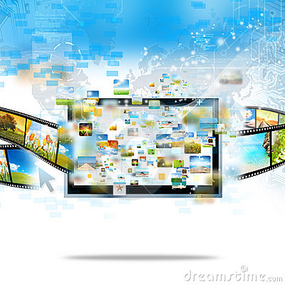 Free Modern Television Streaming Royalty Free Stock Image - 21103836
