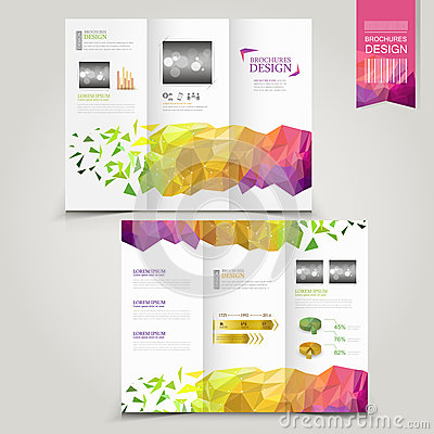 Free Modern Template For Advertising Concept Brochure With Geometric Royalty Free Stock Photos - 43824968