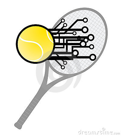 Modern tennis hit