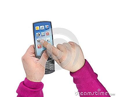 Modern touchscreen mobile phone