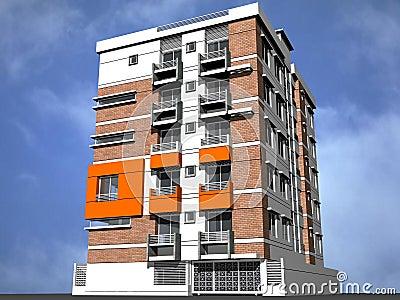 Modern tower block